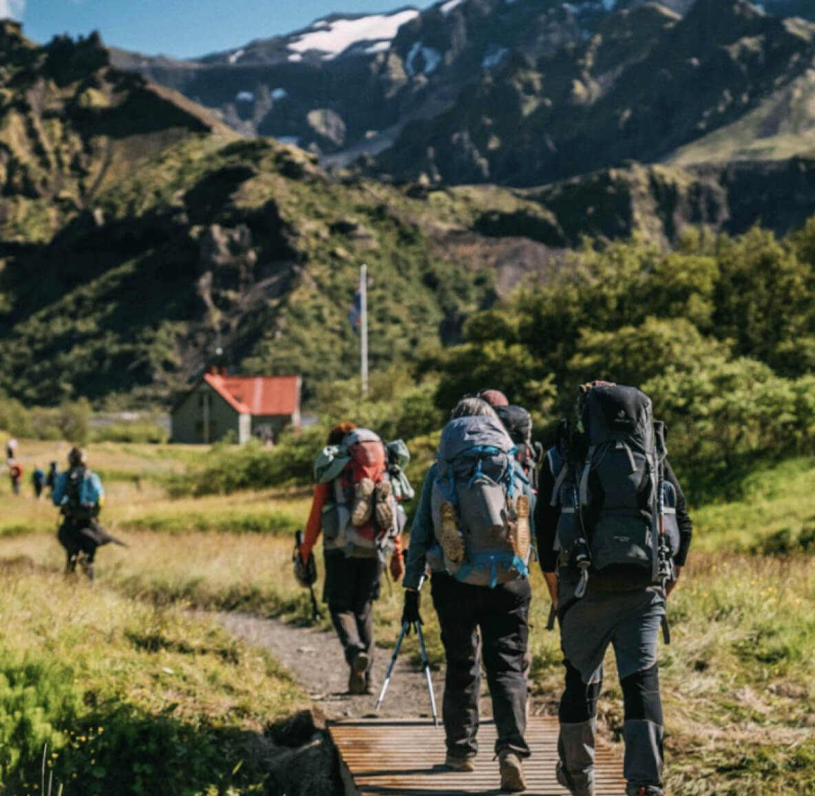 The hiking trails on Iceland are connected with mountain huts.