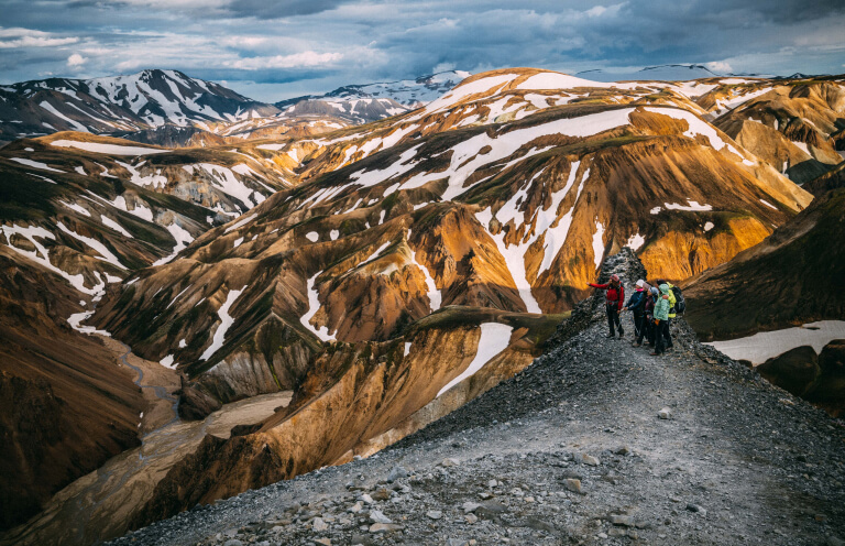 Landmannalaugar is one of the most renowned geothermal valleys in Iceland due to its colorful mountains.