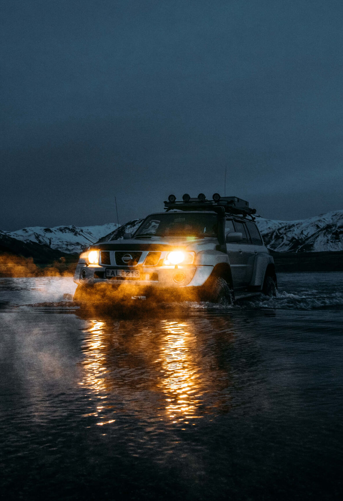 This Nissan jeep will take you off-road, to areas of Iceland that are hard to reach.