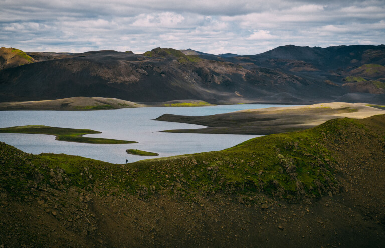 Langisjor Lake is the starting point for the hike through the Fogrufjoll mountains.