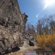 Rock climbing Central Park