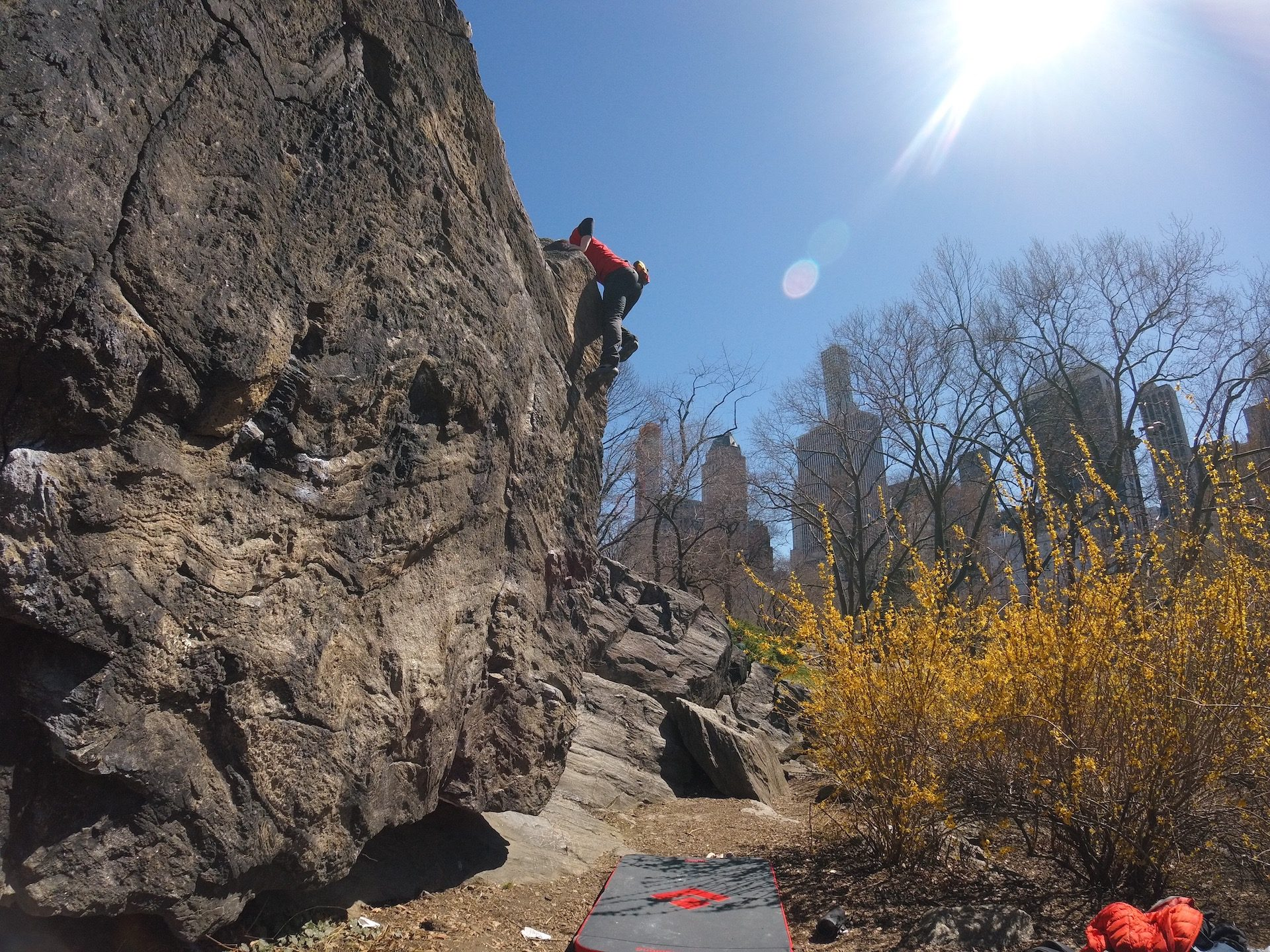 """With some practice, you can reach the city's other """"top of the rock""""."""