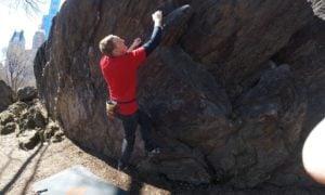 Central Park bouldering