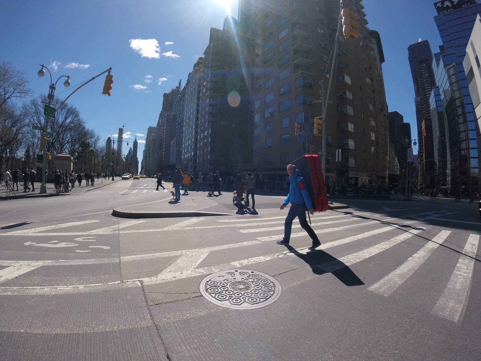 On the way to Central Park.