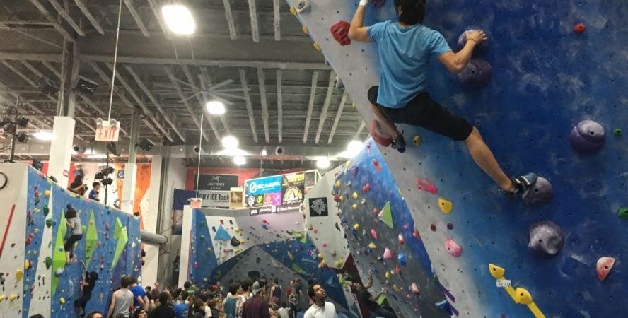 Cliffs Climbing Gym in Long Island City.
