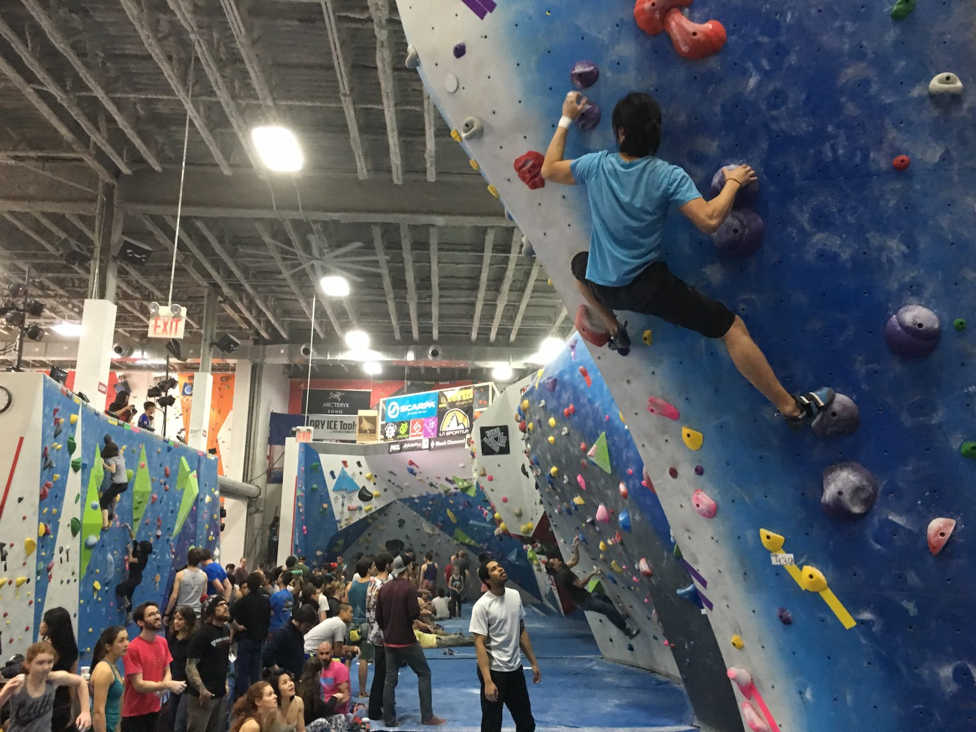 Cliffs Climbing Gym in Long Island City.