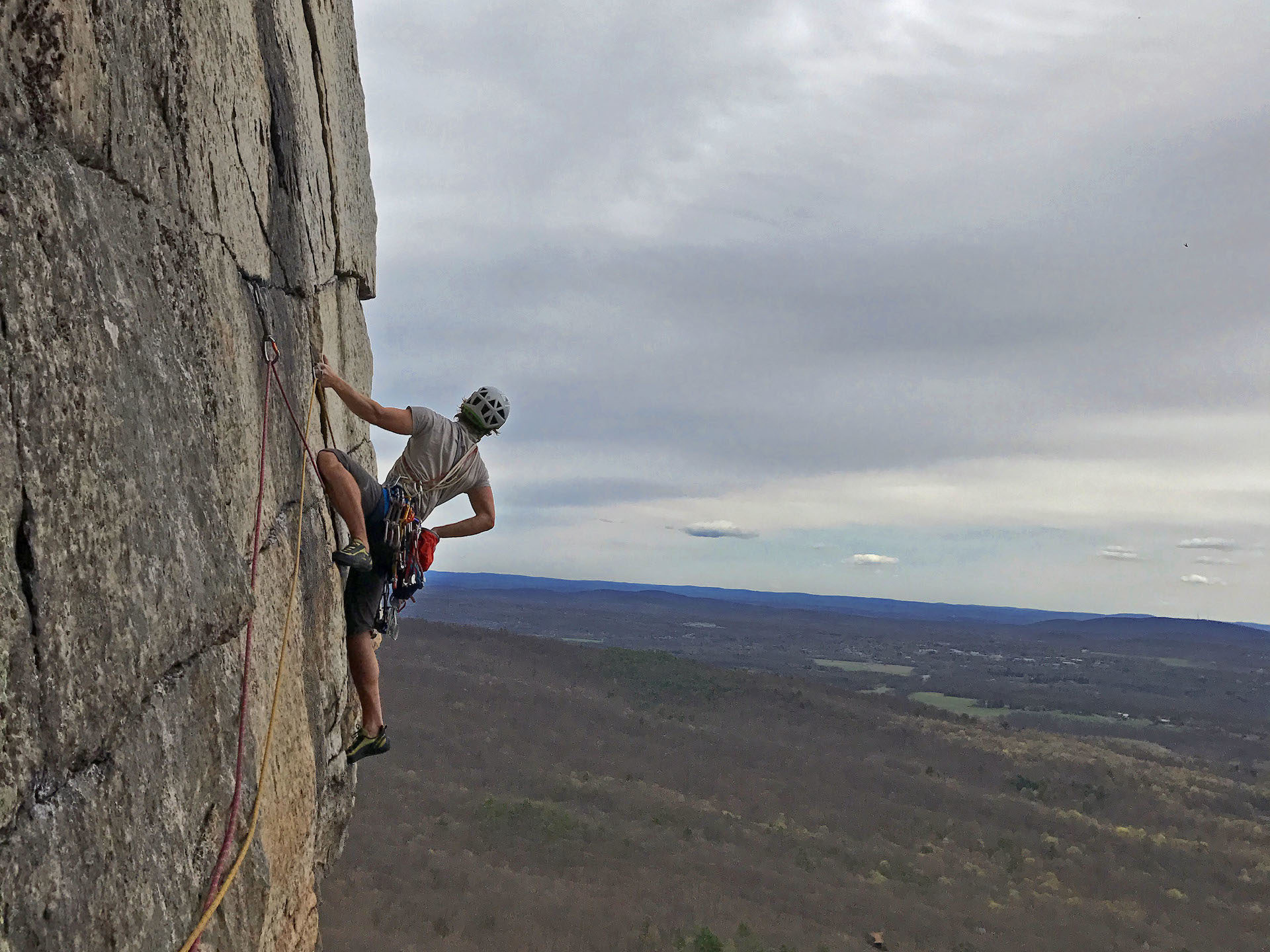 The Gunks offers picturesque views from its huge rock walls.
