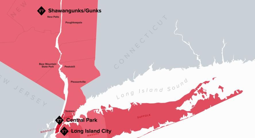 best rock climbing locations around NYC
