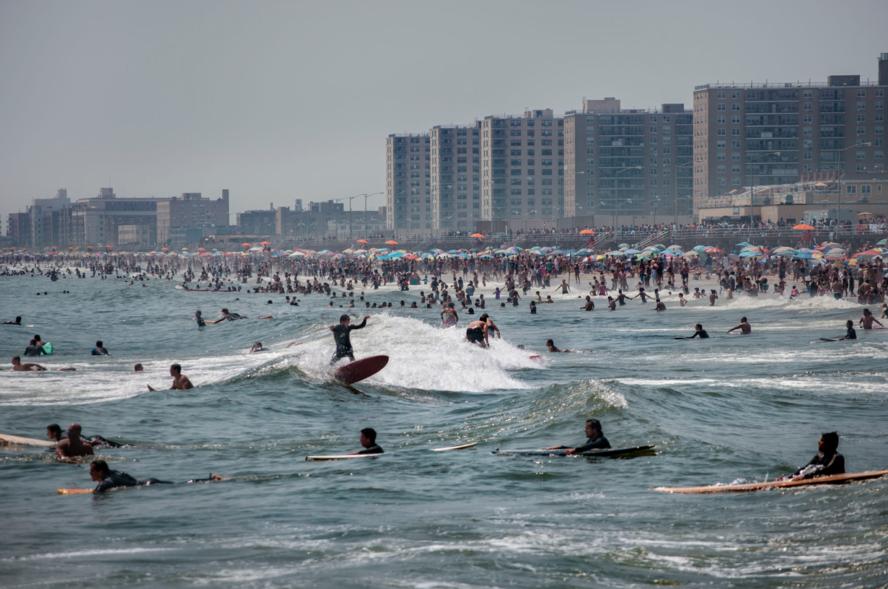 Surfing Rockaways