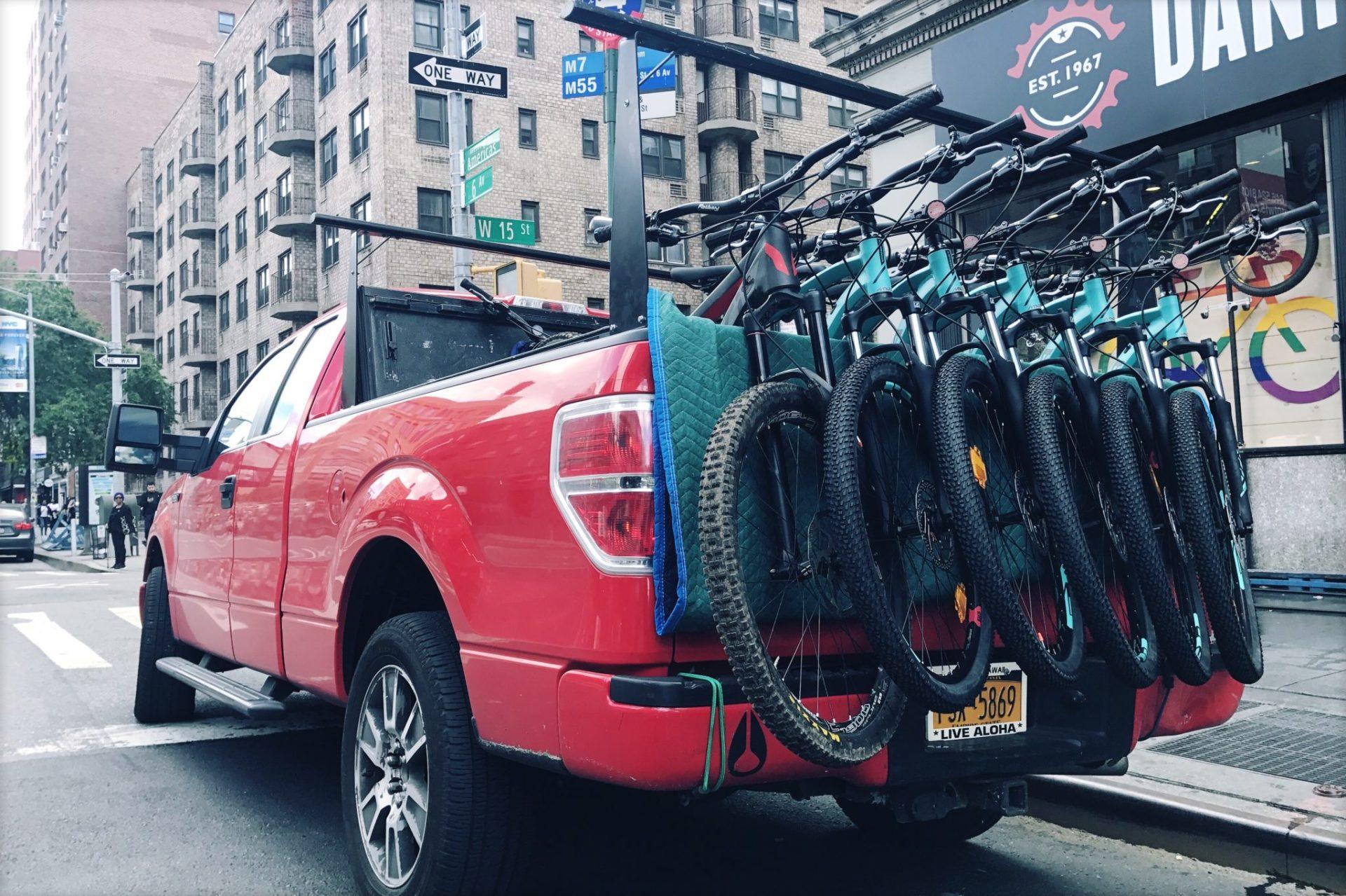 The Bike Hike Tours truck.