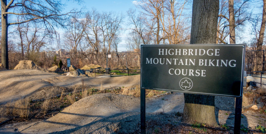 The Highbridge mountain biking trail