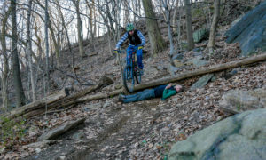 Mountain biking in Highbridge Park