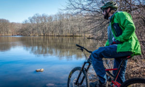 Mountain biking in Wolfe's Pond Park