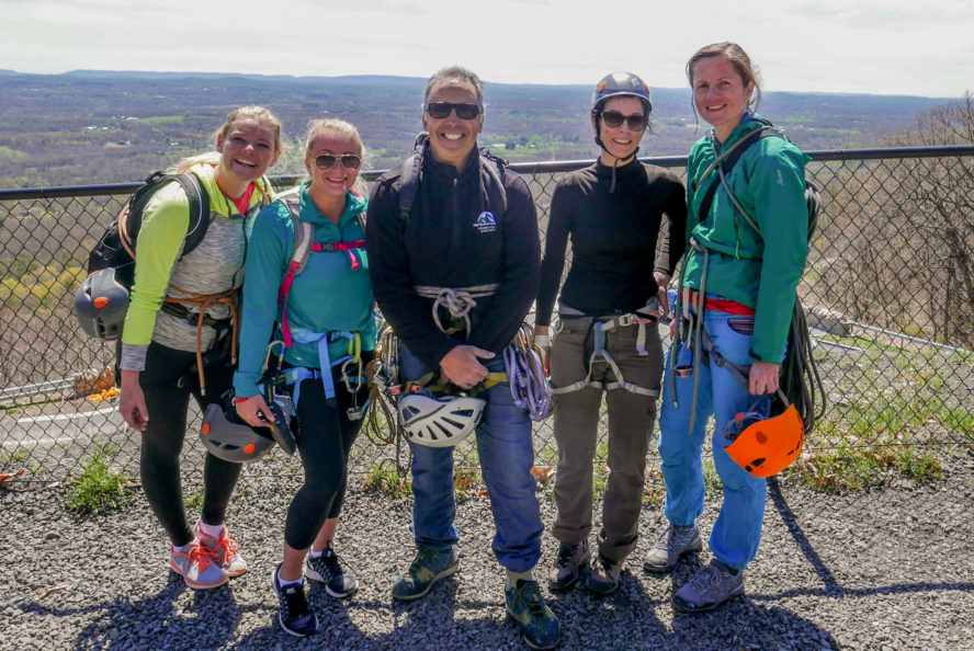 Our women's climbing class group. Rob is one of us now.