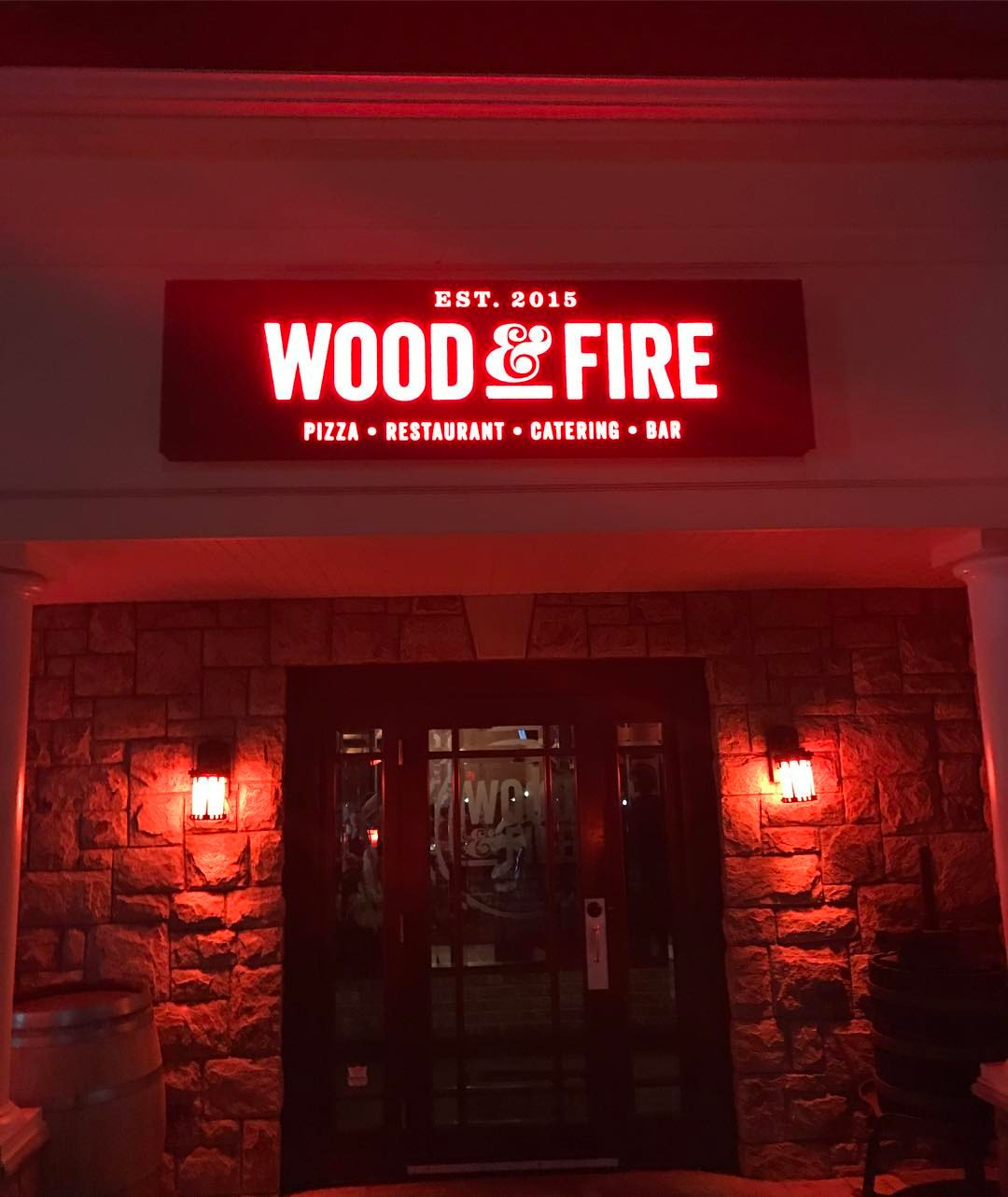 Wood & Fire's exterior. | Photo by Wood & Fire via Facebook