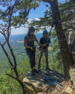 rock climbing at pilot mountain