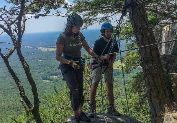 rock climbing at pilot mountain