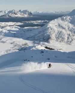 lofoten ski lodge norway skiing backcountry