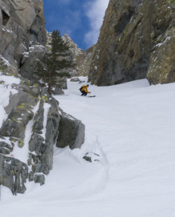backcountry skiing at june mountain
