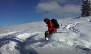 Monarch Pass backcountry skiing video