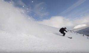 Downhill powder skiing