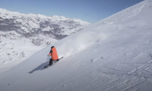 Mammoth mountain backcountry skiing video