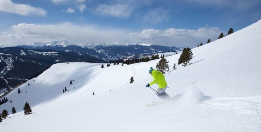 Vail pass skiing