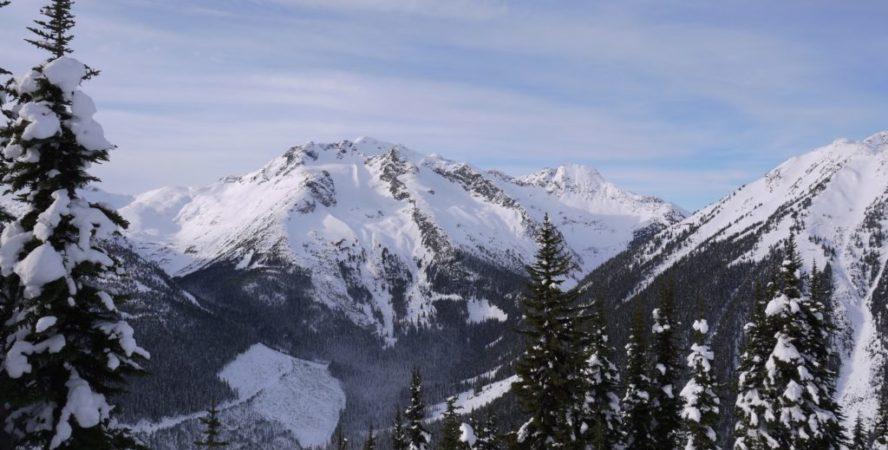 Duffey Lake Road Mountain shot, definitely skiable