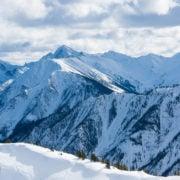 Beautiful skiing terrain