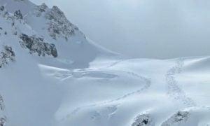 Kananaskis skiing powder tracks