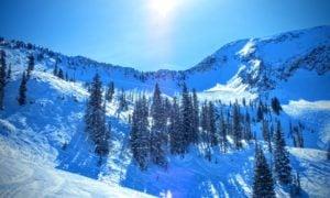 Skiable wasatch mountain powder