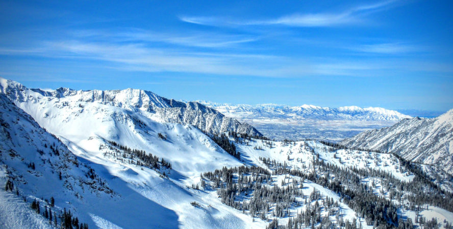 Majestic backcountry skiing in the Wasatch