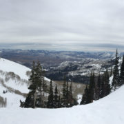 Mountain snow view