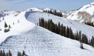 Skiing at Jupiter's bowl