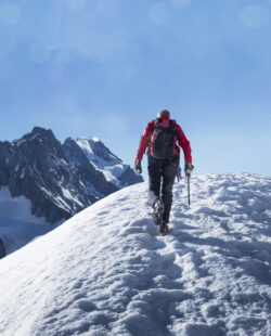 Backcountry skier in Courmayeur