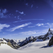 Courmayeur snowy mountain vista