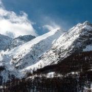 Snow covered alp