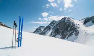 Backcountry skiing La Grave