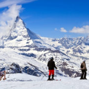 Skiing near Matterhorn