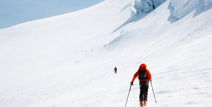 Backcountry skiing in Zermatt