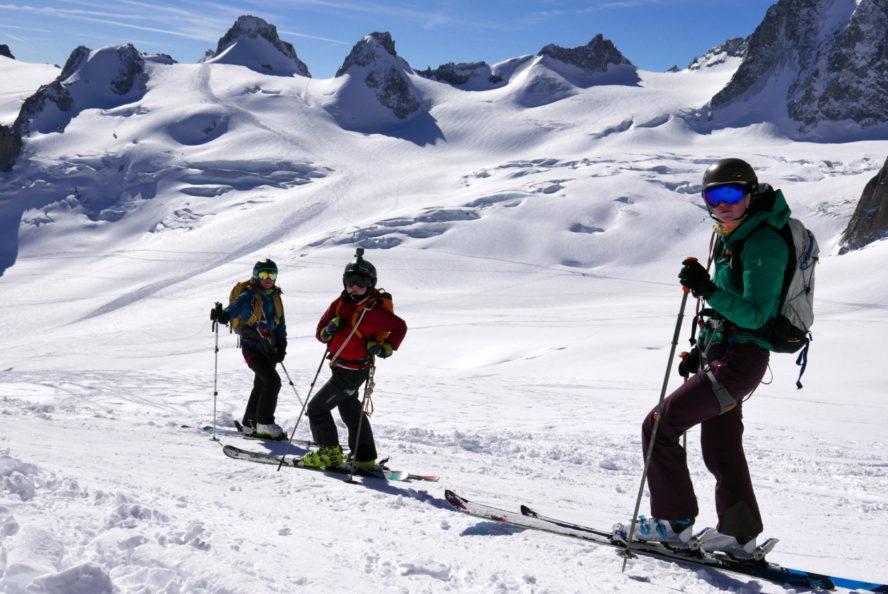 Wide open snowfield