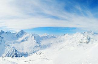 Backcountry skier in alps
