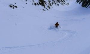 Skiing June Mountain backcountry