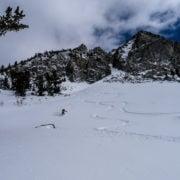 Making fresh ski tracks