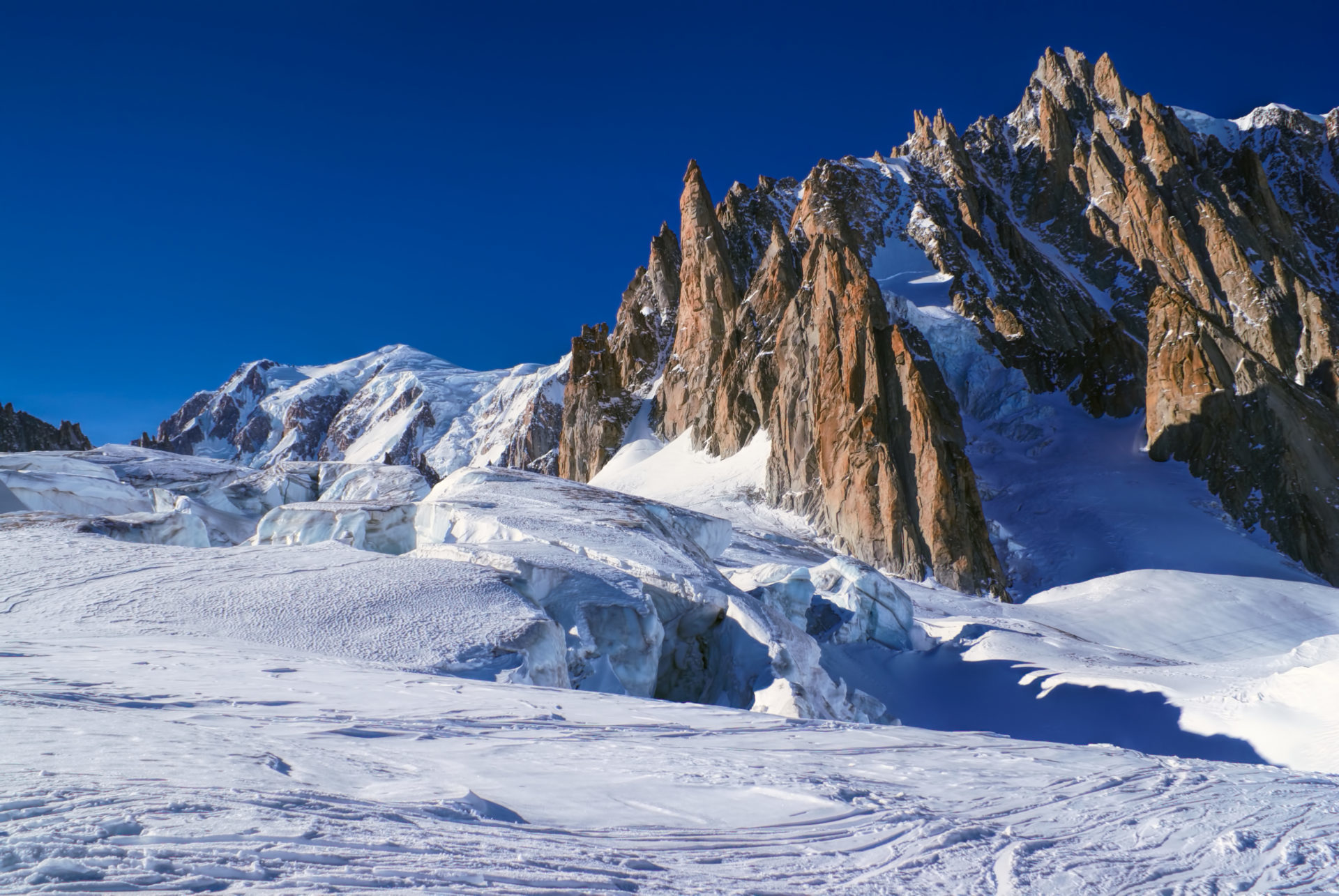 View on La Vallee Blanche