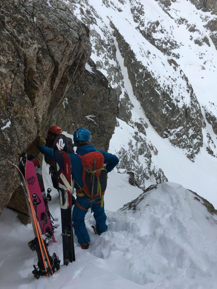 Doug assessing the descent…