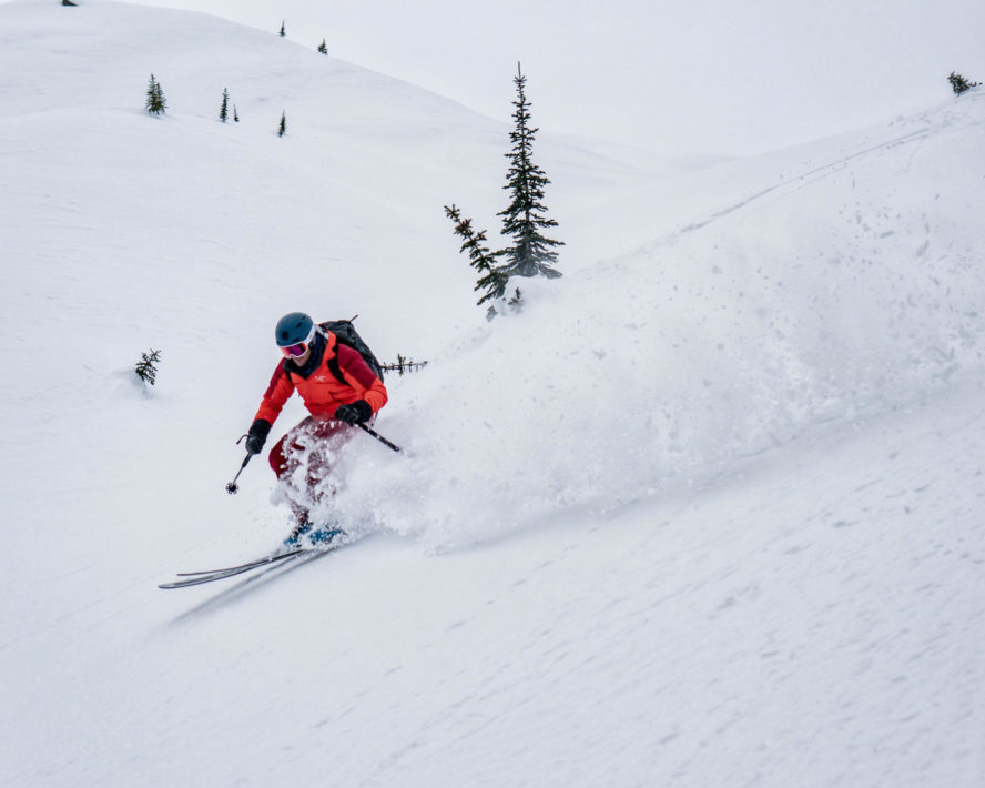 Greg Hill skiing Rogers Pass