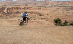 Slickrock mountain biking trail