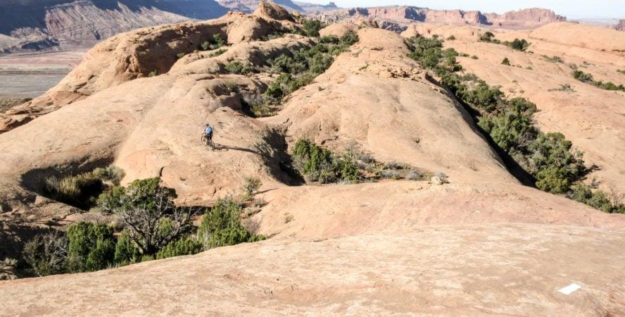 Slickrock mountain biking