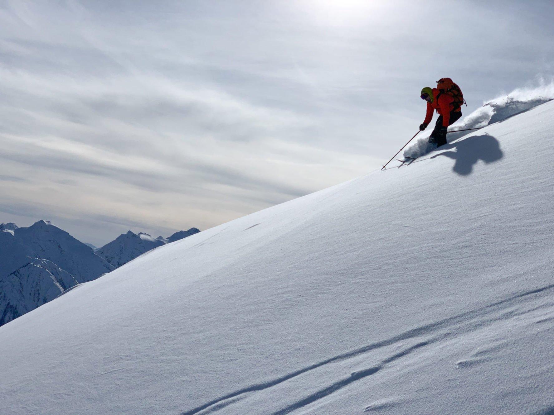 Superb powder skiing